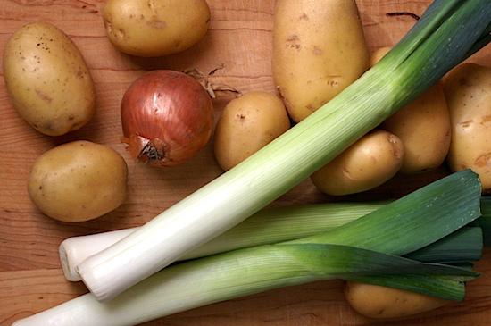 Potatoes, Leeks and Onion