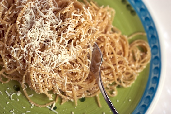 Whole Wheat Vermicelli with Browned Butter and Mizithra Cheese