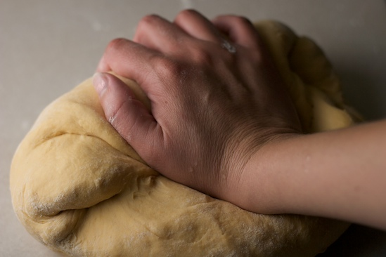 Knead the dough lightly and form into a smooth ball.