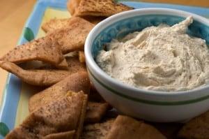 Smoked Tuna Dip with Pita Chips