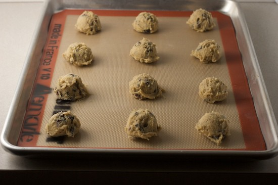 I can fit 12 cookies on a half sheet pan