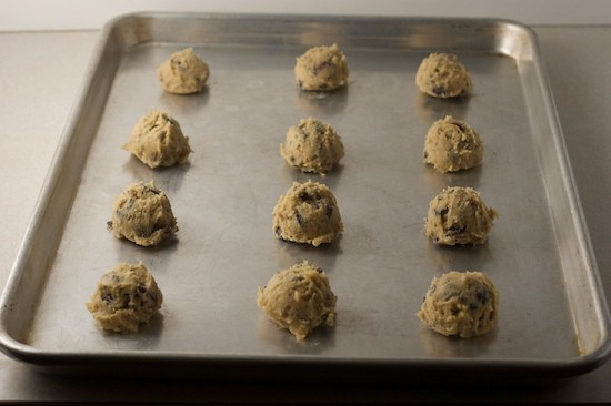 Cookie Dough on Ungreased Baking Sheet
