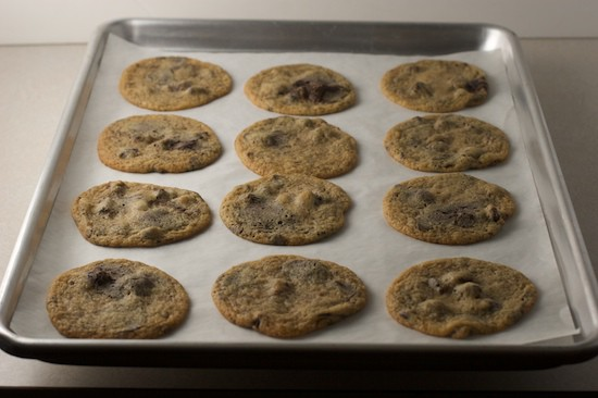 Cookies Baked on Parchment paper