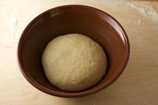 Place Dough in a Oiled Bowl
