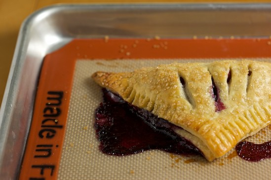 Rhubarb Blueberry Turnover