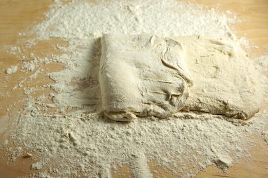 Folding Ciabatta Dough