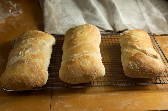 Baked Ciabatta Loaves