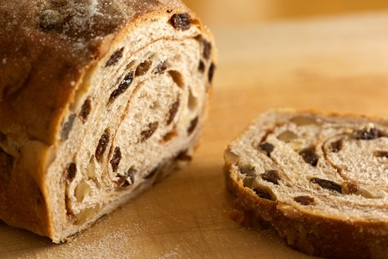 Cinnamon Raisin Walnut Bread Slice