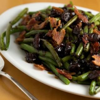 Green Beans with Tart Cherry Balsamic Glaze