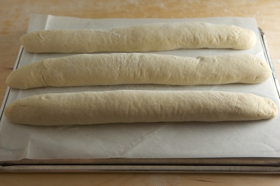 Baguettes Ready for Slashing
