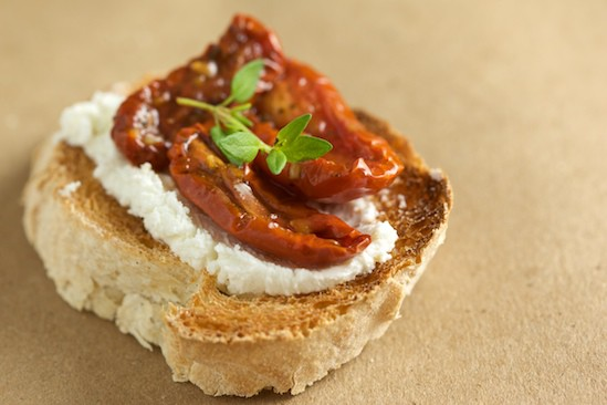 Bruschetta with Goat Cheese and Tomatoes