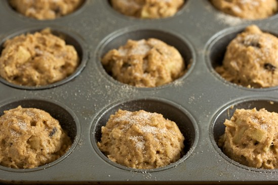 Unbaked Apple Muffins