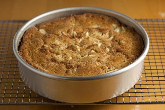 Apple Cinnamon Cake in Pan