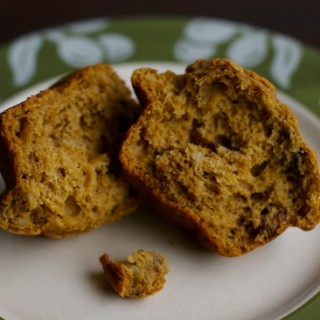 Whole Wheat Pumpkin Muffins with Cranberries and Walnuts | pinchmysalt.com