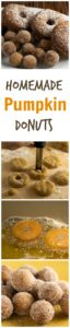 How to make homemade pumpkin spice donuts and donut holes. A perfect fall dessert! pinchmysalt.com
