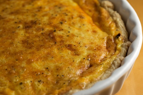Bacon and Caramelized Onion Quiche Close-Up