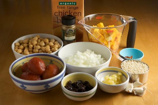 Butternut Squash and Chickpea Stew Ingredients   pinchmysalt.com