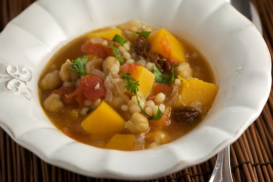 Butternut Squash and Chickpea Stew with Israeli Couscous | pinchmysalt.com