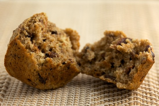 Cherry Pecan Bran Muffin Crumb