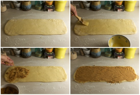 Rolling Cinnamon Roll Dough