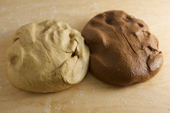 Light and Dark Doughs, Kneaded