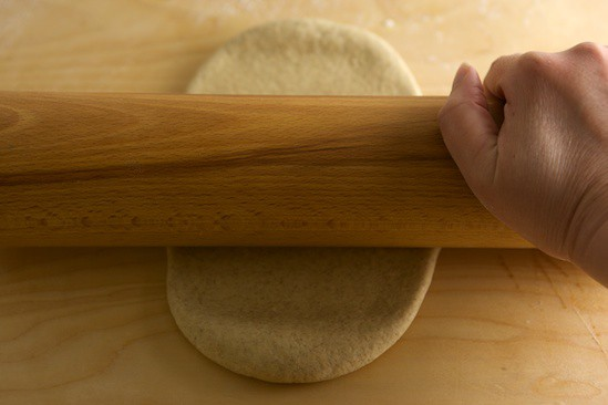 Rolling Marbled Rye Dough