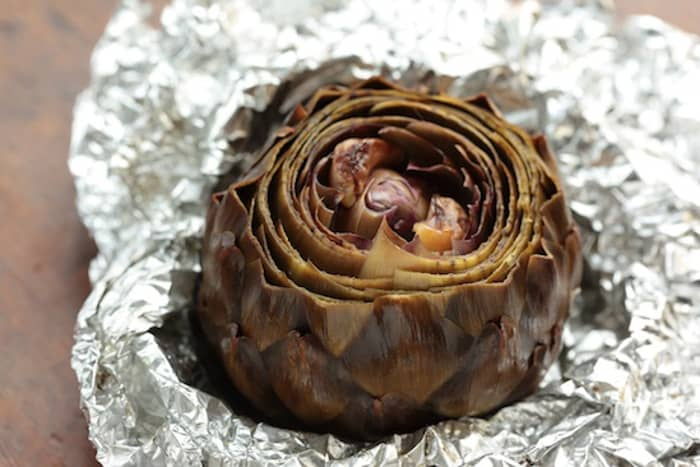Unwrapped Roasted Artichoke