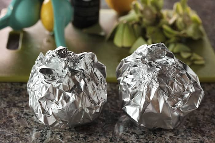 Artichokes Wrapped in Foil