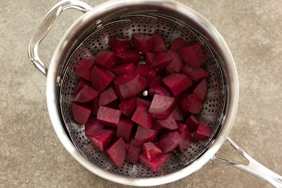 Beets Ready for Steaming