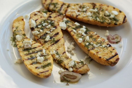 Grilled Yellow Squash with Dill Vinaigrette