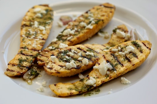 Grilled Squash with Feta