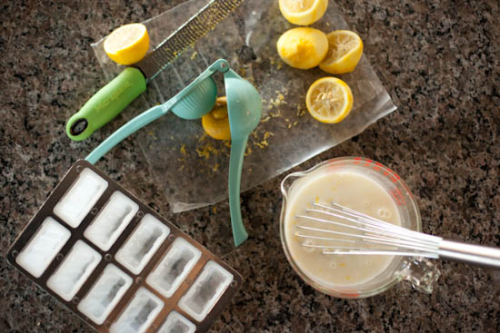 Making Lemon Buttermilk Popsicles