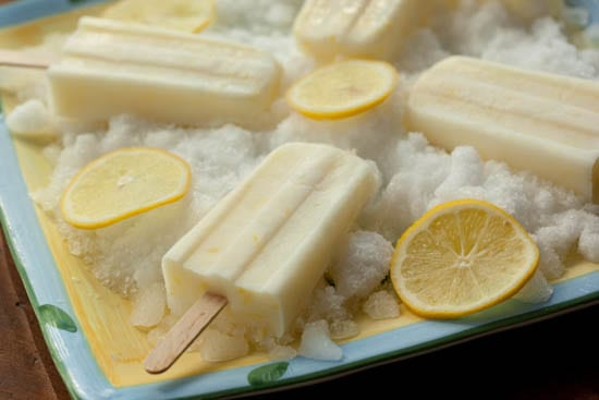 Lemon Buttermilk Popsicles
