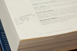 Cookbook Page with handwritten notes