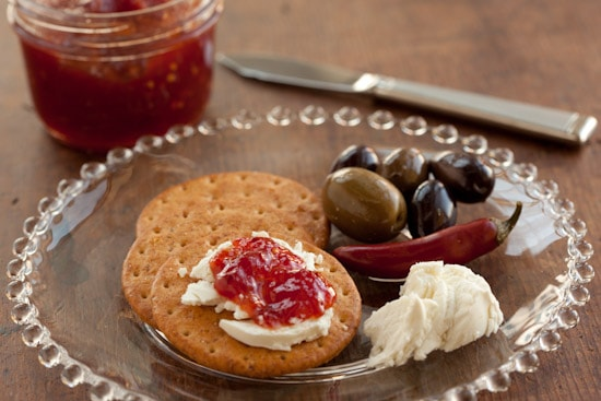 Spicy Tomato Jam with Goat Cheese
