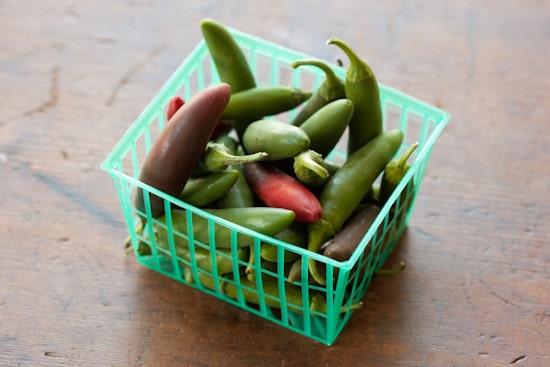 Basket of Serrano Chiles
