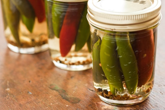 Pickled Peppers in Jars