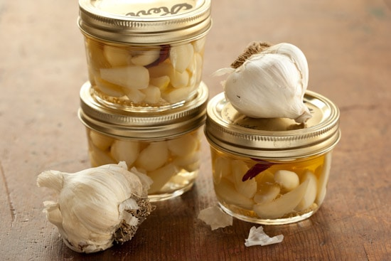 Pickled Garlic in Jars
