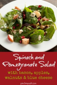 Spinach Pomegranate Salad | pinchmysalt.com