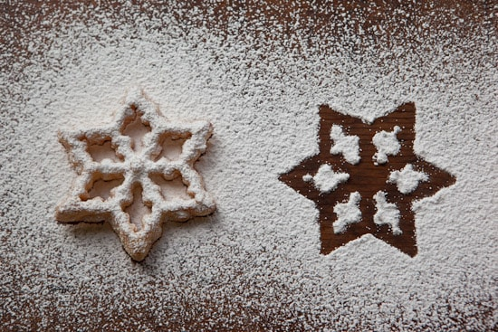 Scandinavian Rosette Dusted with Powdered Sugar