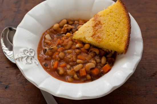 Smoky Spiced Black-Eyed Peas with Corn Bread