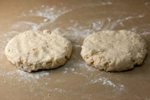 Two Rounds of Scone Dough