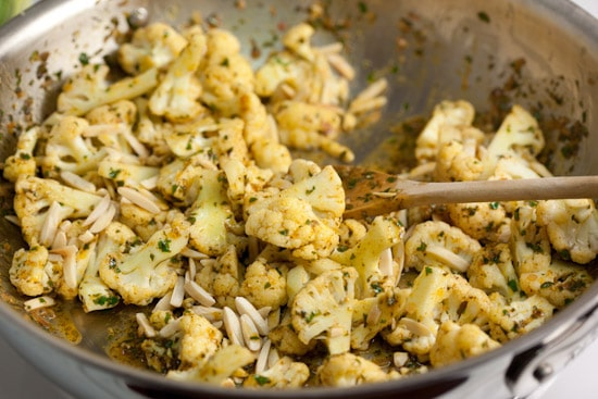Toss in the Cauliflower and Almonds