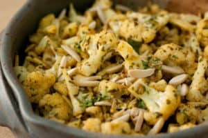 Cauliflower with Curry Butter and Almonds