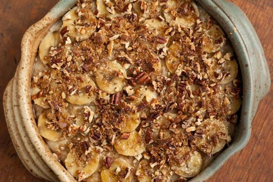 Banana Pecan Oatmeal Brulee