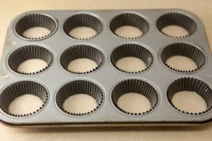 Muffin Cups 1/4 Full of Batter