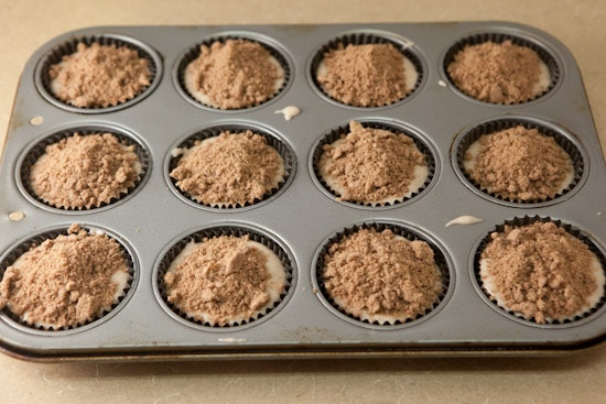 Cinnamon Streusel Muffins Ready for Oven | pinchmysalt.com