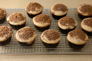 Cinnamon Streusel Muffins Out of the Oven