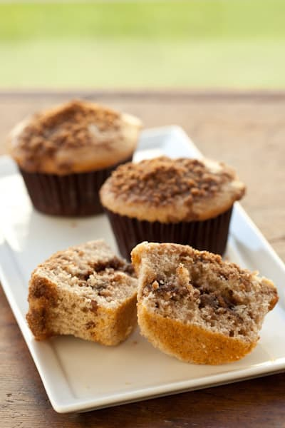 Inside of Cinnamon Streusel Muffin