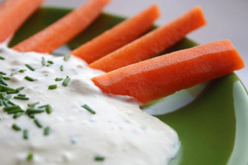 Creamy Blue Cheese Dip with Lemon and Chives